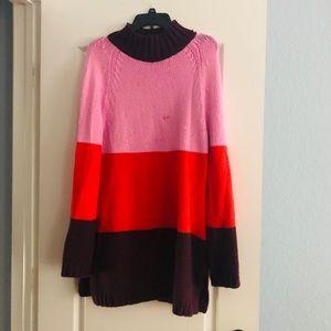 Ann Taylor colorblock turtleneck sweater